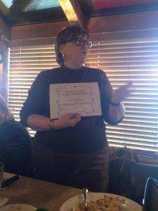 sharon presenting award